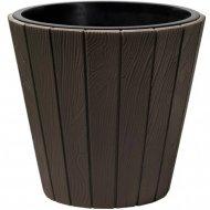 Горшок «Prosperplast» пластиковый Woode 490, коричневый