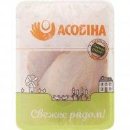 Грудка цыпленка-бройлера «Асобiна» охлажденная 1 кг., фасовка 0.6-0.9 кг