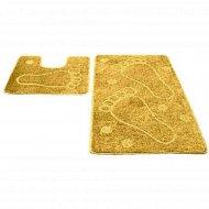 Набор ковриков для ванной комнаты, 50x80+50x50 см, желтый .