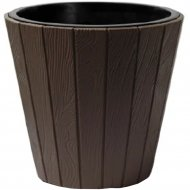 Горшок «Prosperplast» пластиковый Woode 490, мокка