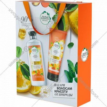 Подарочный набор «Herbal Essences» шампунь+бальзам-ополаскиватель, 400 + 180 мл.