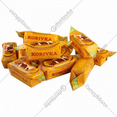 Конфеты неглазированные с молочным корпусом «Korivka Roschen»1 кг., фасовка 0.39-0.4 кг