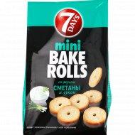 Мини сухарики пшеничные «Bake Rolls» вкус сметаны и лука, 80 г.