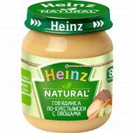 Пюре «Heinz» говядинка по-крестьянски с овощами, 120 г