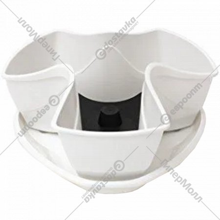 Горшок «Prosperplast» пластиковый Flower pot Coubi – white