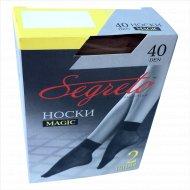 Носки женские «Segreto» magic, 40 den, размер 23-25, 2 пары.