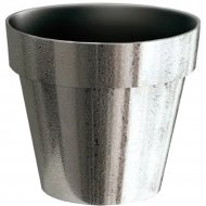 Горшок «Prosperplast» пластиковый Flower pot Cube chrome silve