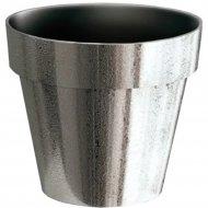 Горшок «Prosperplast» пластиковый Flower pot Cube chrome silve