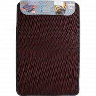 Универсальный коврик «Кольчуга» 40х60 см, бордовый.