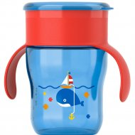 Чашка «Взрослая» красно-синяя, 260 мл.