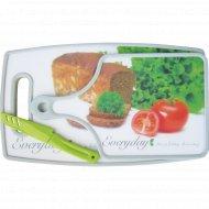 Кухонный набор разделочные доски 2 шт, нож.