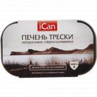 Печень трески «Ican» натуральная, 115 г.