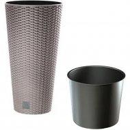 Горшок «Prosperplast» пластиковый Flower pot Rato Tubus – Mocca