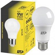 Лампа светодиодная «ETP» A60 9W E27 3000K.