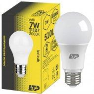 Лампа светодиодная «ETP» A60 7W E27 3000K.