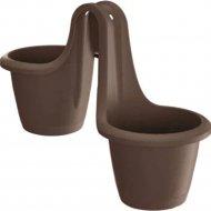 Горшок «Prosperplast» пластиковый Flower pot Respana Twins коричневый