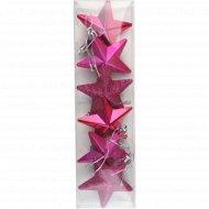 Украшение новогоднее «Звезда» 6 см, 6 шт.