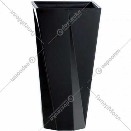 Горшок «Prosperplast» пластиковый Flower pot Urbi Twist P–black