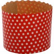 Форма для куличей «Белый горох на красном фоне» 70x60, 1 шт.