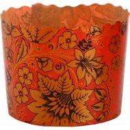 Форма для куличей «Цветы на красном фоне» 70x60, 1 шт.