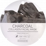 Маска для лица «Charcoal collagen Facial mask, Raraskin» 23 мл.