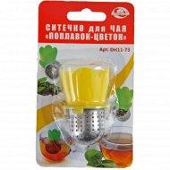 Ситечко для чая «МультиДом» Поплавок-цветок, DH11-73.
