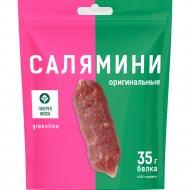 Колбаски сыровяленые «Салямини утиные» сорта экстра, 60 г.