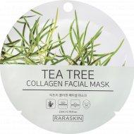 Маска для лица «Tea Tree collagen Facial mask, Raraskin» 23 мл.
