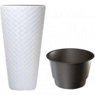 Горшок «Prosperplast» пластиковый Matuba Slim 400, белый