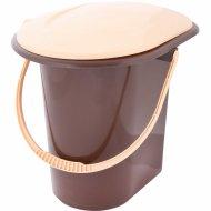 Ведро-туалет, коричневый, 18 л.