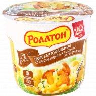 Пюре картофельное «Роллтон» со вкусом лисичек со сметаной, 40 г