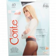 Колготки женские «Conte» Top Soft, 40 den, размер 4, nero