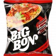 Лапша «Big Bon» говядина + соус томатный с базиликом 75 г.