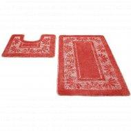 Набор ковриков для ванной комнаты, 50x80+50x50 см, индиго.