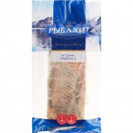 Мясо лосося, обрезь, мороженое, 1 кг., фасовка 0.9-1 кг
