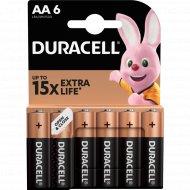 Элемент питания «Duracell» LR6/MN1500, типоразмер АА, 6 шт.