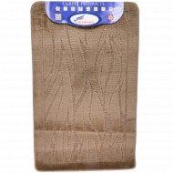 Набор ковриков для ванной комнаты, 60х100+60х50 см, коричневый.