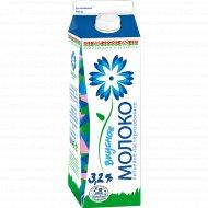 Молоко питьевое «Вкусное» пастеризованное 3.2%, 1 л.