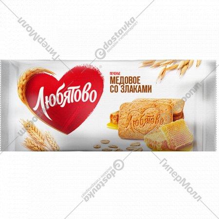 Печенье сахарное «Медовое со злаками» 114 г.