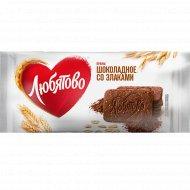 Печенье сахарное «Любятово» шоколадное со злаками, 114 г.