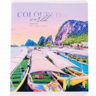 Тетрадь «Путешествия. Coloured world» клетка, 48 л.