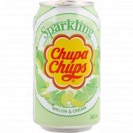 Напиток газированный «Chupa Chups» дыня 0,345 л.
