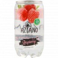 Напиток газированный «Aziano» со вкусом малины, 350 мл.