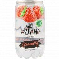 Напиток газированный «Aziano» Strawberry 0.350 л.