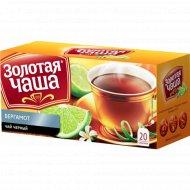 Чай черный «Золотая чаша» с ароматом бергамота, 20 х 1.8 г, 36 г.