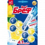 Туалетный блок «Bref» лимонная свежесть, для унитаза, 2х50 г