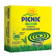 Спирали от комаров «Picnic family» 10 шт.