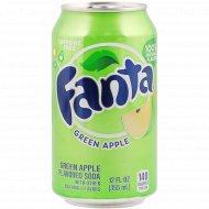 Напиток газированный «Fanta» зеленое яблоко, 0.355 л.