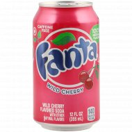 Напиток газированный «Fanta» дикая вишня, 0.355 л.