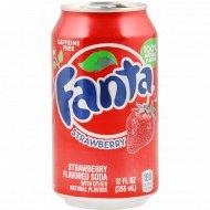Напиток газированный «Fanta» клубника, 0.355 л.